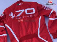 Vettel 2017 Racing Suit / Ferrari 70th Anniversary Monza GP