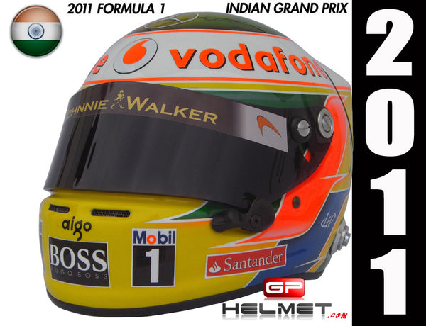 Lewis Hamilton 2011 INDIA GP Replica Helmet / Mc Laren F1