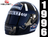 Damon Hill 1996 Replica Helmet / Williams F1
