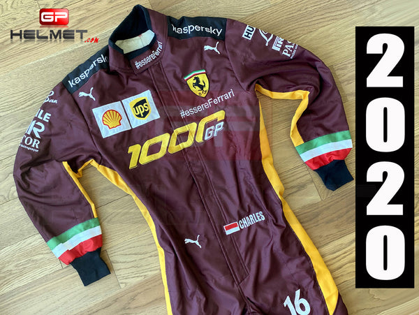 Leclerc 2020 Ferrari 1000 GP Replica Racing Suit / Ferrari F1