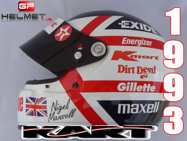 "Nigel Mansell 1993 ""KART""a Helmet / Williams F1"