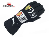 Sebastian Vettel 2018 MW Racing gloves / Team Ferrari F1