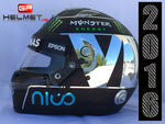 "Nico Rosberg 2016 ""Chrome plated"" Helmet / Mercedes Benz  F1"