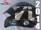 "Nico Rosberg 2014 ""Chrome plated"" Helmet / Mercedes Benz  F1"