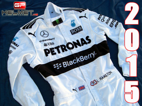 Lewis Hamilton 2015 Racing Suit / Mercedes Benz F1