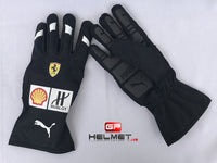 Sebastian Vettel 2018 Racing gloves / Team Ferrari F1