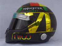 "Nico Rosberg 2014 ""Chrome Gold"" World Cup Helmet / Mercedes Benz  F1"