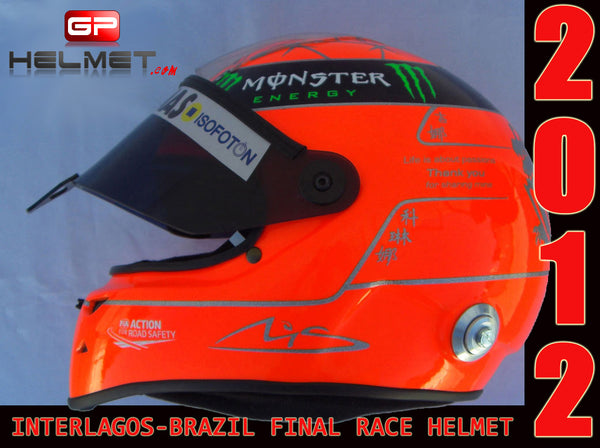 "Michael Schumacher 2012 ""FINAL RACE"" helmet / Team Mercedes Benz"