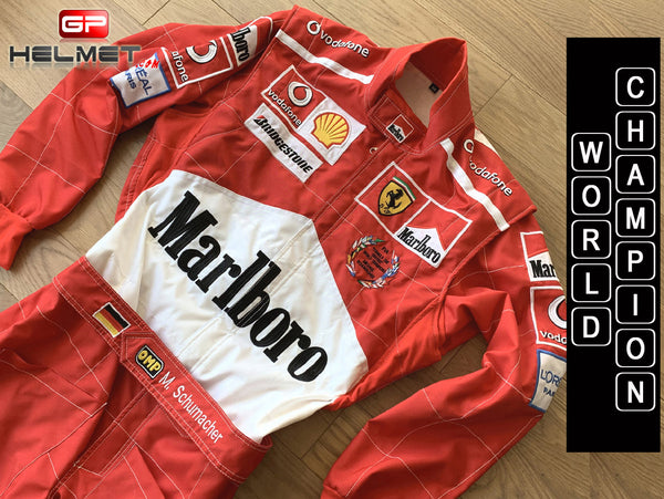 Michael Schumacher Racing Suit WORLD CHAMPION / Team Ferrari F1