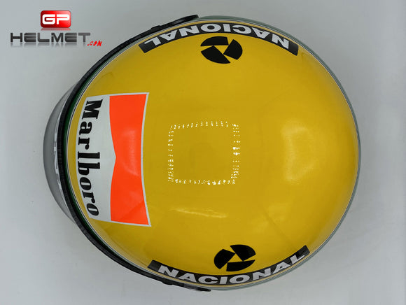 Ayrton Senna 1991 season Helmet / Team Mc Laren F1