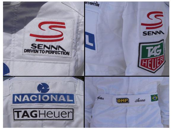 Ayrton Senna 1993 racing suit Masters Paris Bercy
