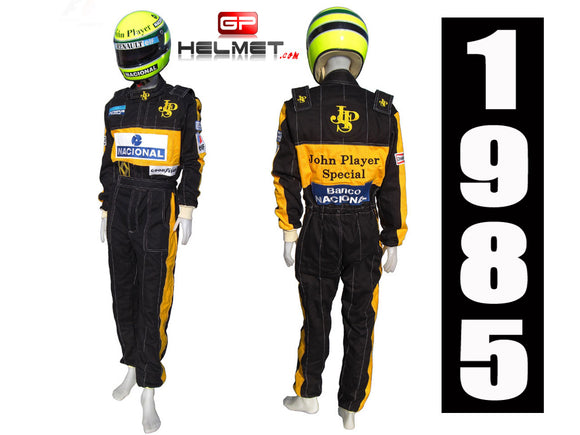 Ayrton Senna 1985 racing suit / Team Lotus F1