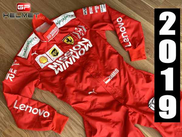 Leclerc 2019 Mission Winnow Racing Suit / Ferrari F1