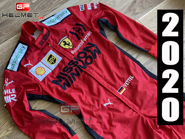 Vettel 2020 Mission Winnow Racing Suit / Ferrari F1