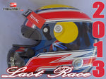 "Mark Webber 2013 ""LAST RACE"" Replica Helmet / RB F1"