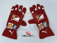 Sebastian Vettel 2016 Racing gloves / Team Ferrari F1