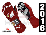 Kimi Raikkonen 2016 Racing gloves / Team Ferrari F1