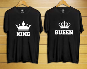 King & Queen Crown Couple T-shirt - Odacali Bracelets