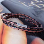New Fashion Unisex Leather Interlaced Cuff Bracelet - Odacali Bracelets