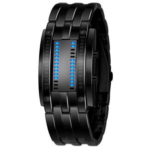 Men's Black Stainless Steel Digital LED Bracelet - Odacali Bracelets