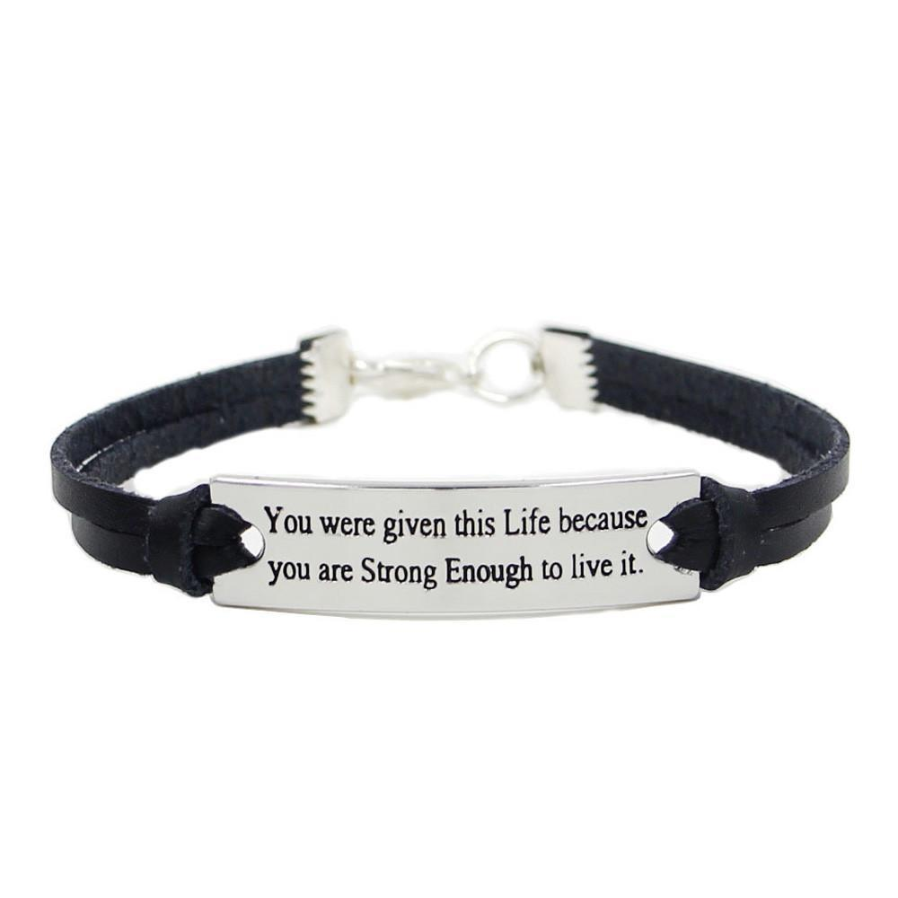 Inspirational Sport Outdoor Leather Wristband Bracelet - Odacali Bracelets