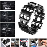 Stainless Steel Outdoor Multi-functional Tool Bracelet - Odacali Bracelets