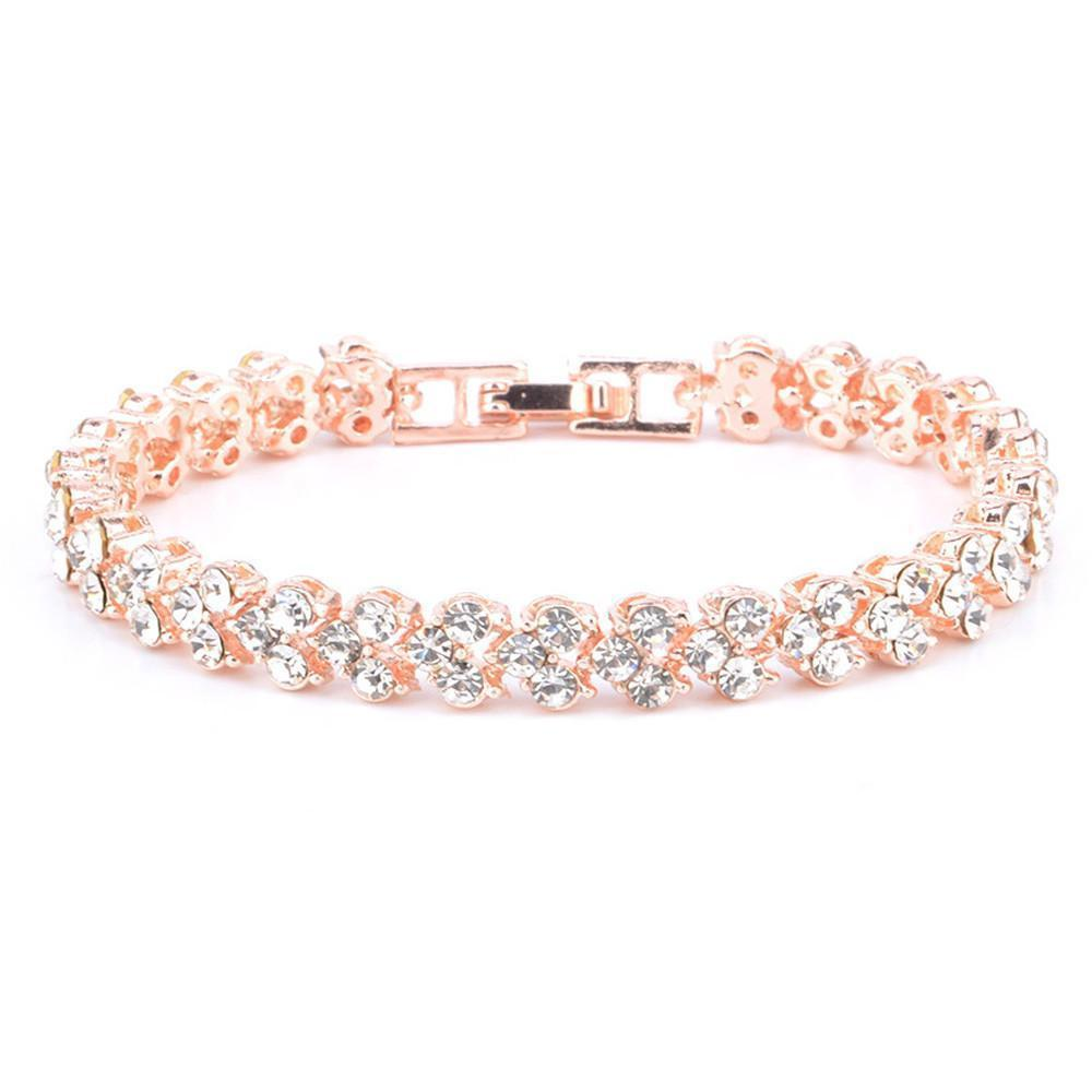 New Fashion Roman Style Woman Crystal Diamond Bracelet - Odacali Bracelets