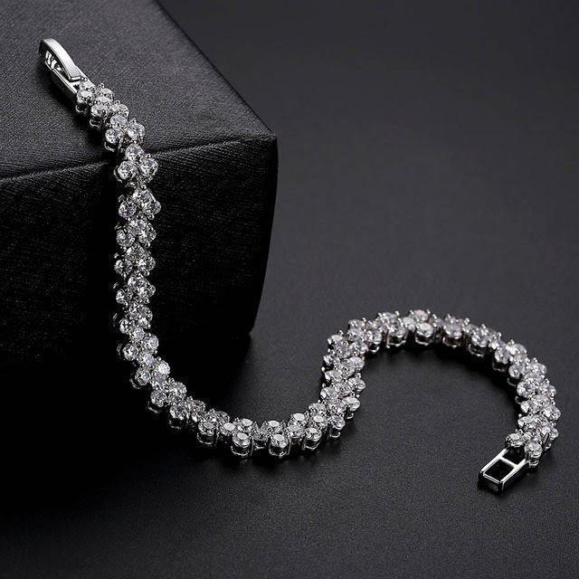 odacali bracelets  Charm Bracelets New Fashion Roman Style Woman Crystal Diamond Bracelet