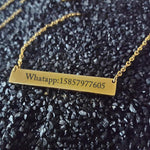 Custom Name Pendant Necklace - Odacali Bracelets