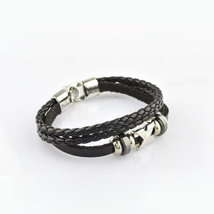 Korean Style Handmade Braided Leather Bracelets - Odacali Bracelets