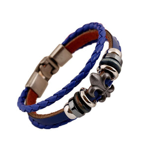 Men's Punk Retro Leather Bracelet - Odacali Bracelets