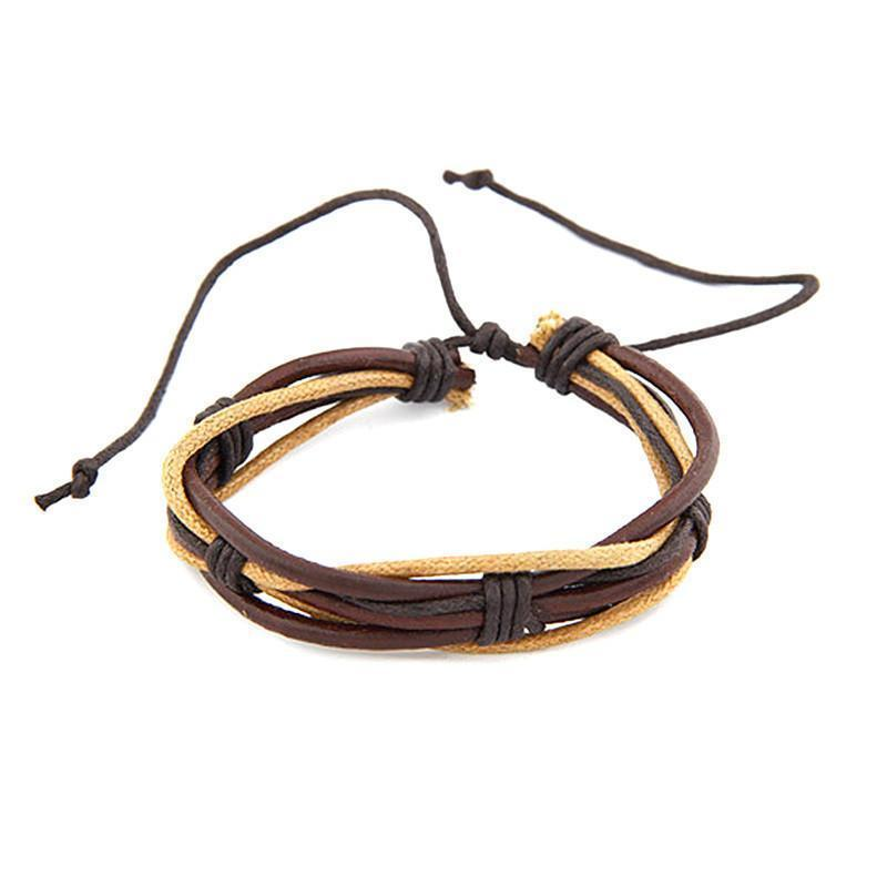 Unisex Leather Charms Bracelet - Odacali Bracelets