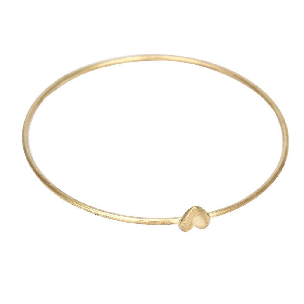 Women's Sweet Peach Heart Wishing Bangle Bracelet - Odacali Bracelets