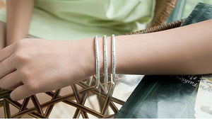 Fashion Women LOVE Jewelry Charm Cuff Bangle Bracelet - Odacali Bracelets