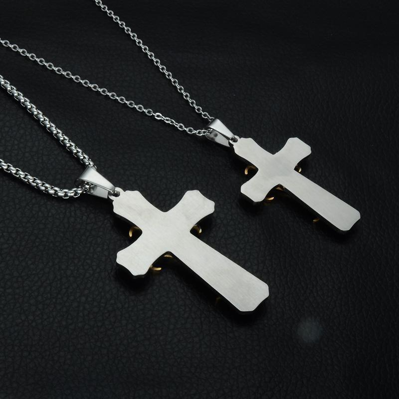 Gold Cross Trendy Stainless Steel Titanium Necklace - Odacali Bracelets