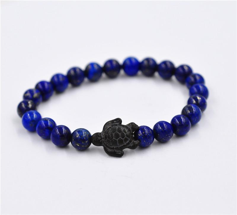 New Fashion Beads Stone Turtle Balance Energy Bracelet - Odacali Bracelets