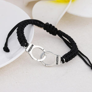 New Fashion Handcuffs Punk Braided Bracelet - Odacali Bracelets