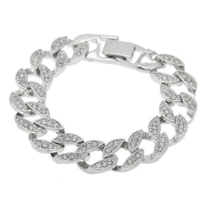 Bling Rhinestone Crystal Chain Bangle Bracelet - Odacali Bracelets