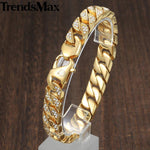 Hip Hop Iced Out Bling Full Rhinestone Men Bracelet - Odacali Bracelets
