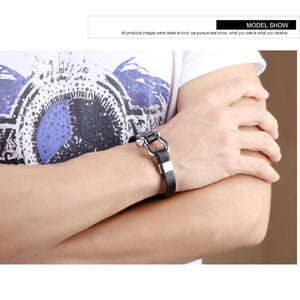 Unique Cowhide Cuff Leather Bracelet - Odacali Bracelets