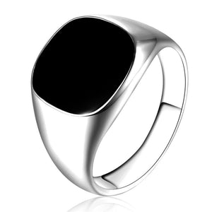 Solid Polished Stainless Steel Ring - Odacali Bracelets