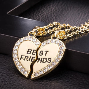 Best Friend Unisex  Heart Pendant Necklace - Odacali Bracelets