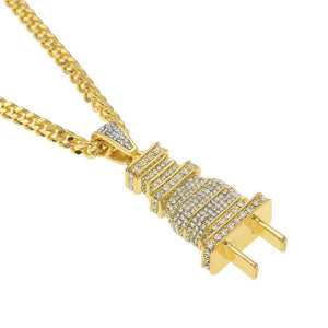 Fully Iced Out Diamond Bling Necklace - Odacali Bracelets