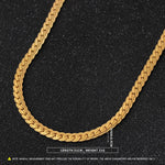 Luxury Filled Curb Cuban Link Gold Necklace - Odacali Bracelets