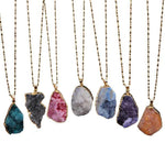 Natural Stone Crystal Pendant Necklace - Odacali Bracelets