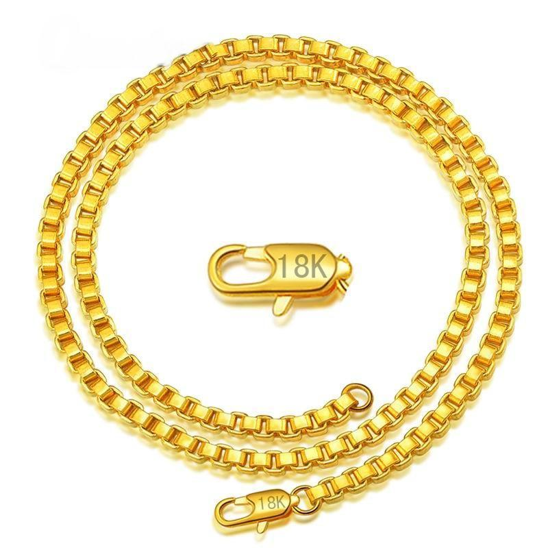 Figaro Italian Curb 18K Gold Chain Necklace - Odacali Bracelets