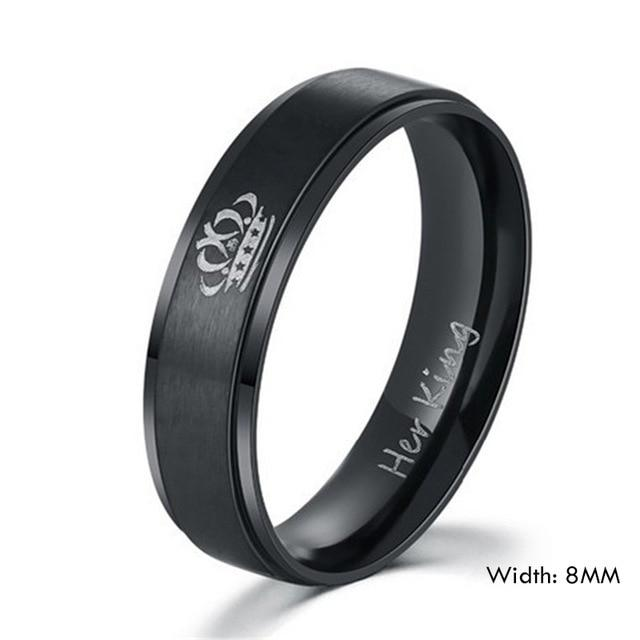 Her King and His Queen Stainless Steel Rings - Odacali Bracelets