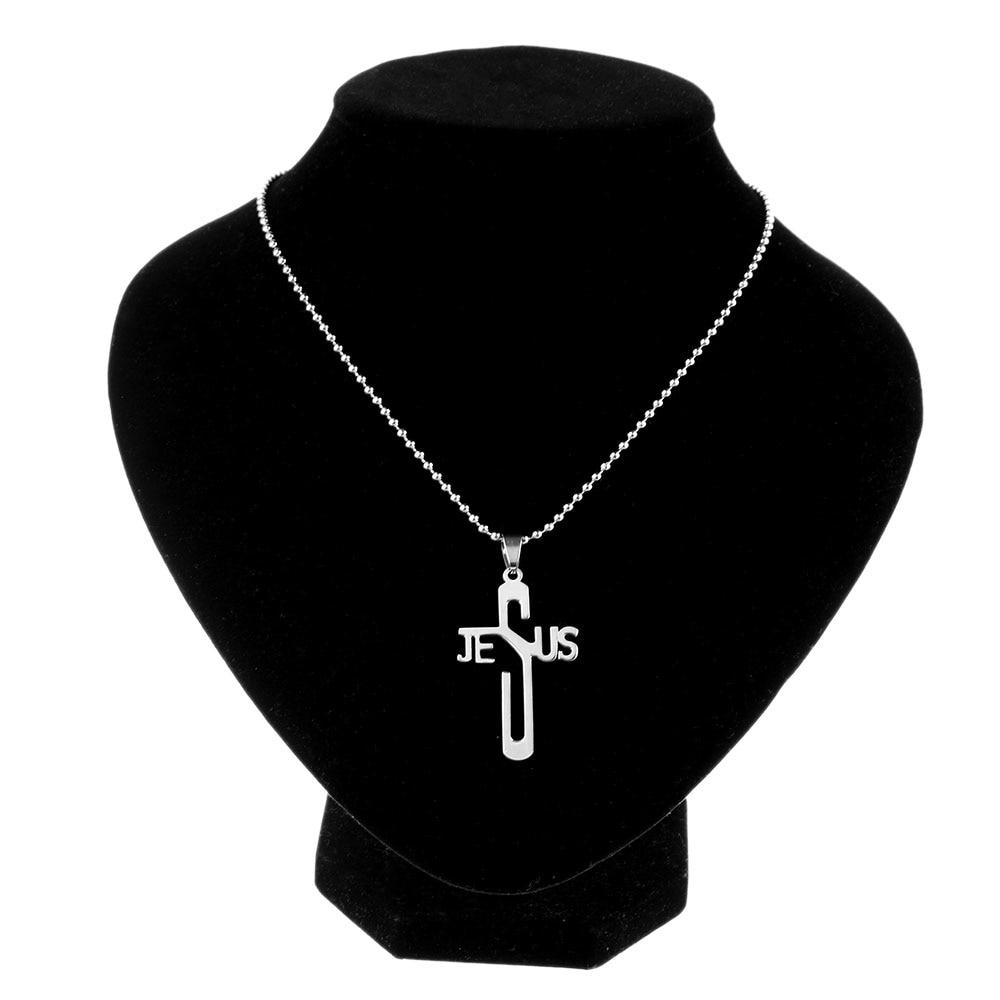 Jesus Cross Pendant Necklace - Odacali Bracelets