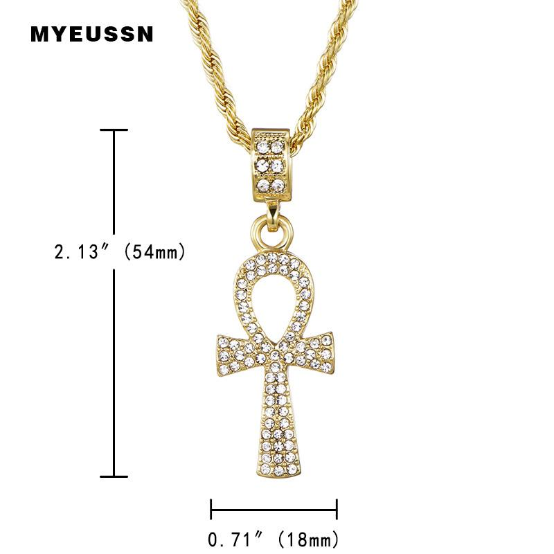 Cross Alloy Egyptian Key of Life Pendant Necklace - Odacali Bracelets