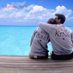King & Queen Couple Sweat Shirt - Odacali Bracelets